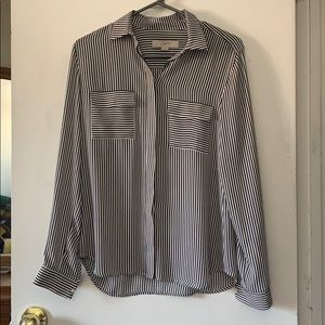 LOFT pinstripe button down shirt